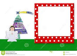 Christmas Photo Frames For Kids Christmas Frame Cute Angel Copyspace Stock Image Image