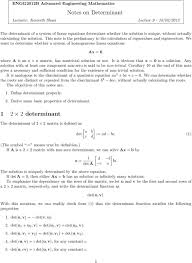 we want to determine whether a system of geneous linear equations ax 0 where