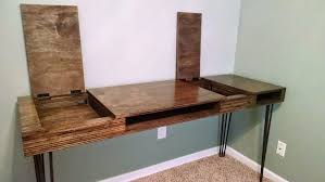Homemade Desk Attractive On Home Designs Inside HomeMade Modern DIY Flip  With Pictures 9