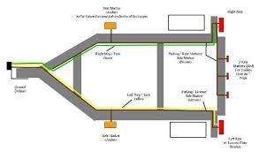 standard 4 pole trailer light wiring diagram automotive electronics trailer light wiring utility trailer and rv
