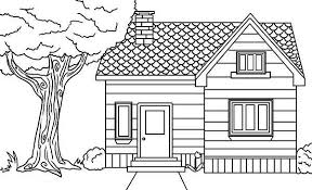Small Picture House in the Village in Houses Coloring Page NetArt