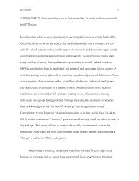 Australia Essay Social Inequality Essay Soc175 Australian Society Mq