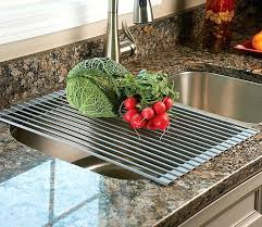 adorable over the sink colander over the sink roll up drying rack colander s6327652 adorable over the sink colander