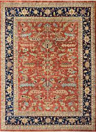 rugsville red antique serapi hayate persian rug 9x12