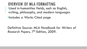 Works Cited For Mla Research Paper Academized Lifestyle