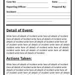 Police Incident Report Form Template Blank Police Report Template