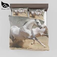 dream ns 3d effect prints horse bedclothes comfor quilt cover pillow case king double double size