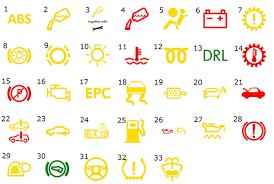 vw dashboard indicator light guide near