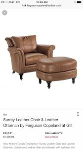 surrey leather chair by ferguson copeland for in san go ca offerup