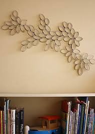 toilet paper roll wall art inspiration graphic homemade wall decoration ideas