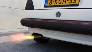 volkswagen golf gti back fire car