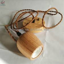 Wooden Pendant Light Fixtures Screw Pendant Light Cord Fitting Mini Round Wooden Pendant Light Fixtures With Fabric Cable Buy Round Hanging Lights Screw Pendant Light