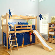 bunk bed with slide and desk. Bedroom:Lulu Youth Loft Canada Plans With Desk Coaster Slide And Tent Redblue Bunk Ashley Bed