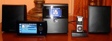 wireless home sound system. wireless home audio system. the dmwr1000 wireless-n touchscreen remote (pictured above with director and ipod dock) was impressive\u2014and for $349, sound system