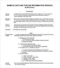 a sample informative speech outline