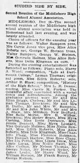 Middleboro High Reunion, Dec. 1895. Mentions both Lyman H. and both of his  parents. - Newspapers.com