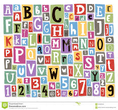 collage fonts free colorful vector alphabet letters made of newspaper magazine font abc