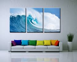 3 panels painted ocean waves oil painting on canvas mural modern wall painting wall picture seascape home decor in painting calligraphy from home garden