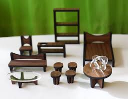 mid century dollhouse furniture. sustainable mid century modern dollhouse and matching furniture in main home furnishings category u