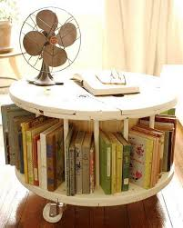 creative book storage. Delighful Creative Library Table From Old Cable Spool In Creative Book Storage E