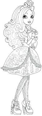 Free Ever After High Coloring Pages Trustbanksurinamecom