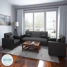 latest fabric sofa set designs.  Fabric Flipkart Perfect Homes Crete Leatherette And Fabric 3  1 Black Sofa Set On Latest Designs N