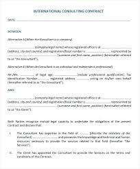 Consulting Agreement Sample In Word Inspiration Consultant Agreement Best Of Nice Sample Consulting Contract