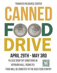 Food Drive Posters Transfer Week Canned Food Drive New Jersey City University