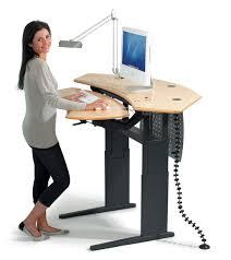 fancy office supplies. Flexo-standing-desk-maple-surface Fancy Office Supplies