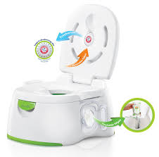 it offers 3 diffe stages from potty chair to potty seat and also serves a