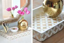 a painted tray with fun designs