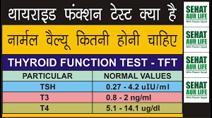 Thyroid Test Range Chart India