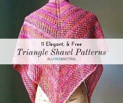 Shawl Knitting Patterns Enchanting 48 Triangle Shawl Knitting Patterns Free AllFreeKnitting