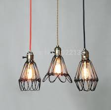 industrial handmade unique pendant lights crafts vintage birdcage models display cords wires cables hang
