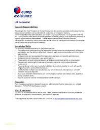 Sample Job Description Templates And Cover Letter Template Hr Fresh