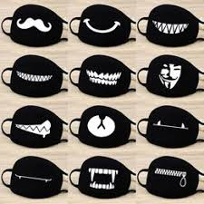 Cotton Dust Mask Cartoon Expression Teeth Muffle Chanyeol ... - Vova