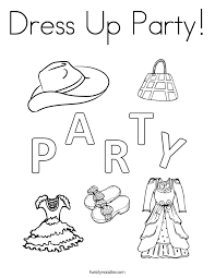 Small Picture Dress Up Party Coloring Page Twisty Noodle