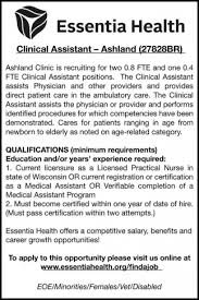 Clinical Assistant Jobs Clinical Assistant Essentia Health