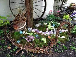 outdoor fairy garden