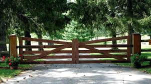residential farms commercial automated gates chain link fence railings wooden farm auckland wooden farm gates