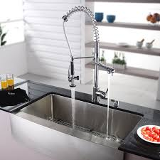 36 x 21 farmhouse kitchen sink with faucet and soap dispenser