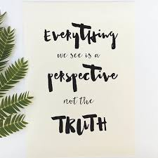 Perspective Quotes Beauteous Inspirational Quote Print 'Everything We See Is A Perspective Not