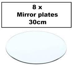12 inch round mirror for centerpieces 8 x round mirror plates wedding decoration centerpiece job lot