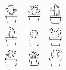 Cactus Doodling Easy