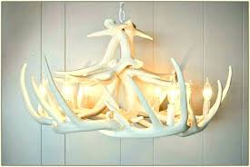 faux antler chandelier pottery barn white deer kitchen faucets
