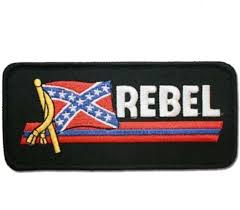 small confederate flag patch rebel