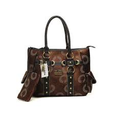Coach Waverly Stud In Signature Medium Coffee Totes DNH