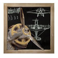 vintage airplane wall art globe imports