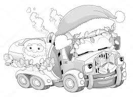 Kleurplaat Kerstmis Auto Stockfoto Illustratorhft 53736343