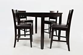 Millwood Pines Jarrett 5 Piece Counter Height Solid Wood Dining Set